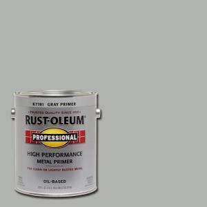 Rust-Oleum Professional 1 gal  High Performance Flat Gray Oil-Based  Interior/Exterior Metal Primer (2-Pack)-K7781402 - The Home Depot