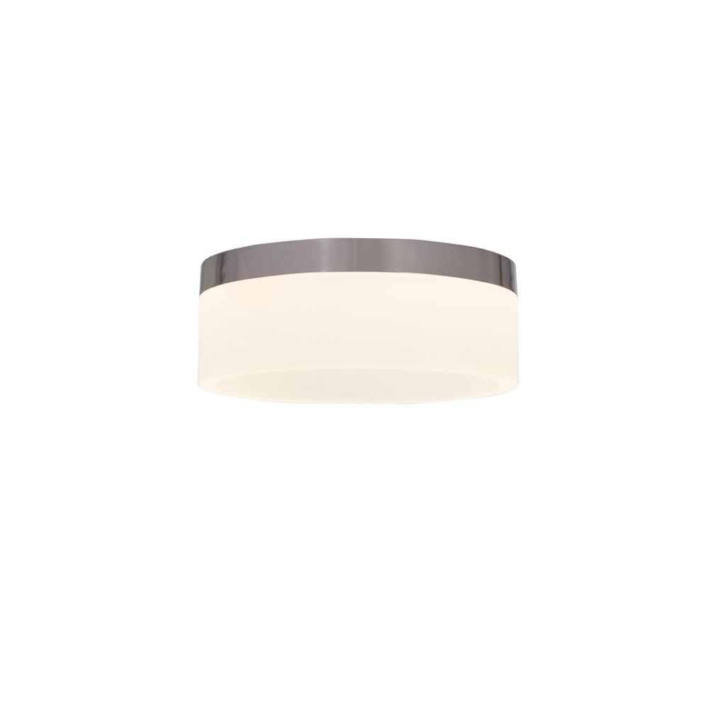 Alsy 12-Watt Brushed Nickel Integrated LED Ceiling Flushmount