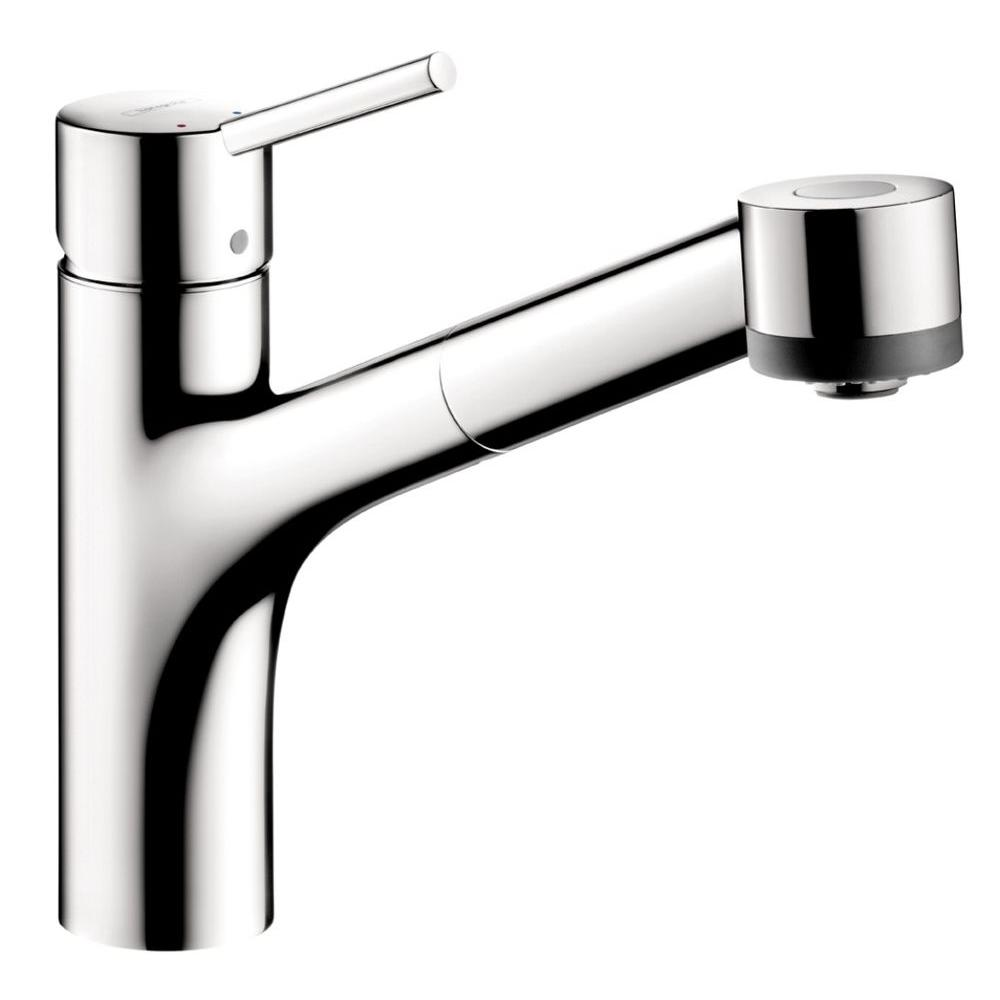 Hansgrohe Talis S Single Handle Pull Out Sprayer Kitchen Faucet In