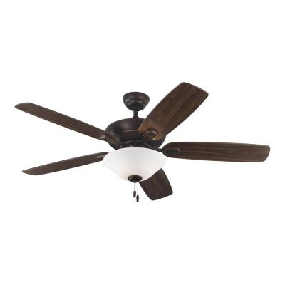 Colony Max Plus 52 in. Indoor/Outdoor Roman Bronze Ceiling Fan with Light Kit
