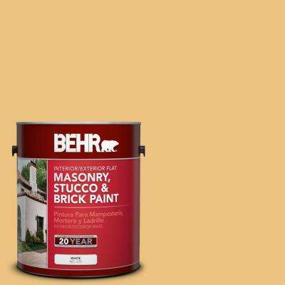 1-gal. #MS-36 Mayan Maize Flat Interior/Exterior Masonry, Stucco and Brick Paint