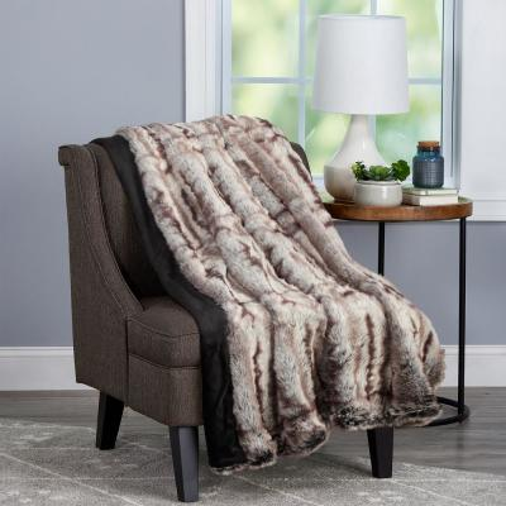 Oversized Premium Fashion Faux Chinchilla Hypoallergenic Throw Blanket
