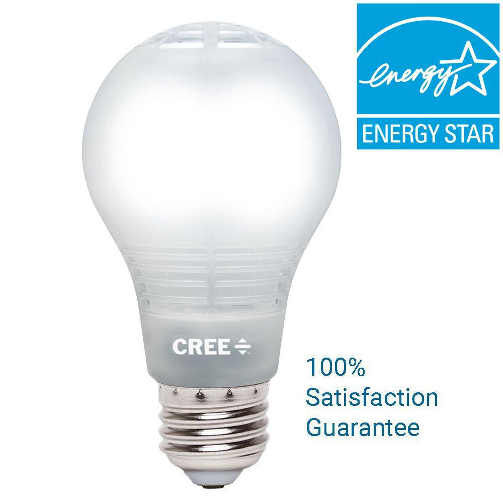 60W Equivalent Daylight A19 Dimmable LED Light Bulb With 4