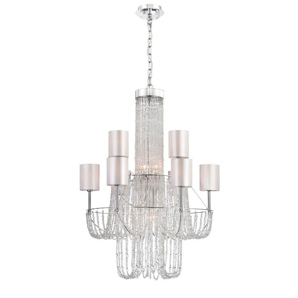 Eurofase Fontana Collection 12-Light Chrome Chandelier-DISCONTINUED