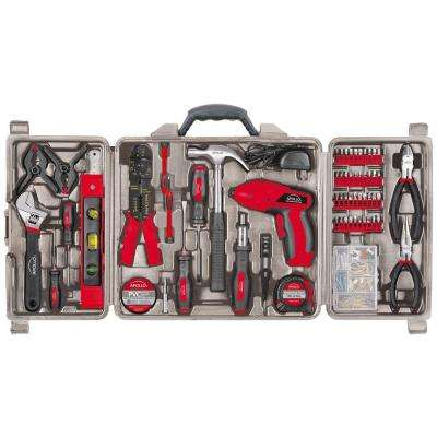 161-Piece Household Tool Kit with 4.8-Volt Screwdriver
