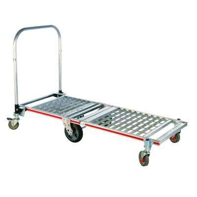 1,500 lb. Capacity 6-Wheel Folding Aluminum Platform Truck, Base and Extension with 8 in. Balloon Cushion Wheels