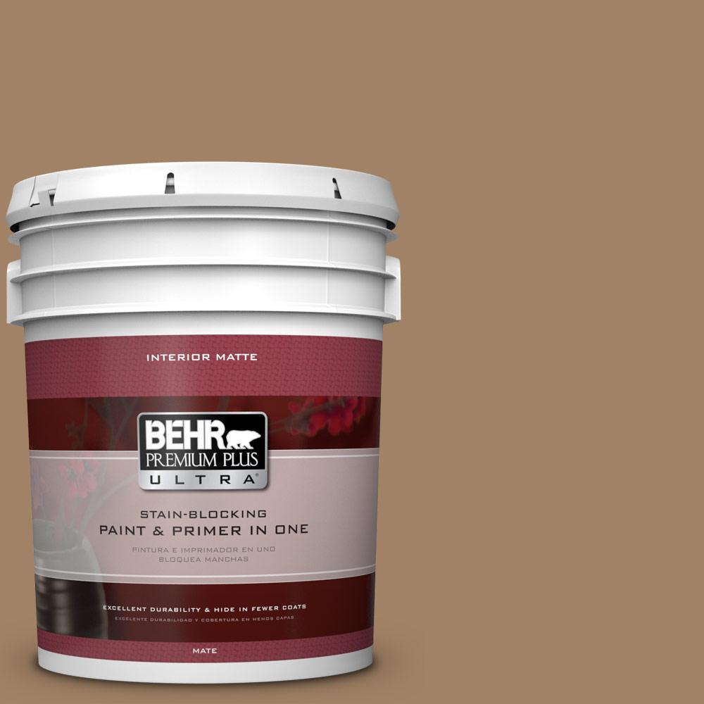 5 gal. #280F-5 New Chestnut Flat/Matte Interior Paint