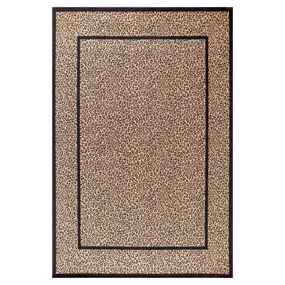 Jewel Leopard Beige 2 ft. 7 in. x 4 ft. Accent