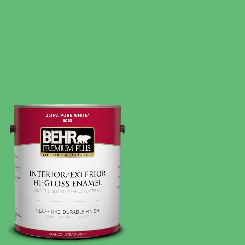 1-gal. #450B-5 Lady Luck Hi-Gloss Enamel Interior/Exterior Paint