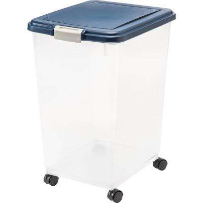 69 Qt. Airtight Pet Food Storage Bin in Navy