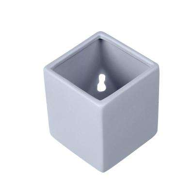 Cube 5-1/2 in. x 6 in. Sky Ceramic Wall Planter