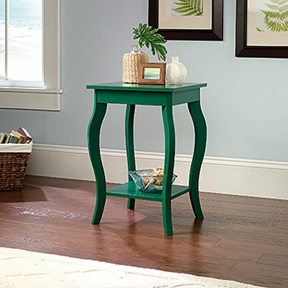 Sauder Woodworking Harbor View Emerald Green Side Table 420134 The