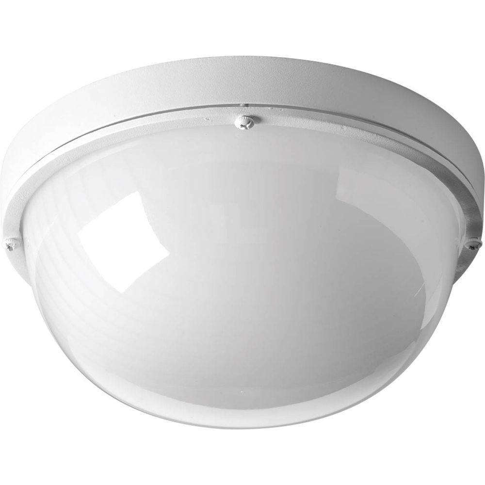 Progress Lighting 1-Light White LED Bulkhead