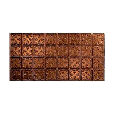 Traditional 10 - 2 ft. x 4 ft. Glue-up Ceiling Tile in Oil Rubbed Bronze