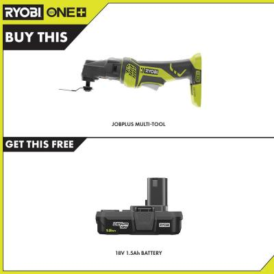 18-Volt ONE+ Cordless JobPlus Base with Multi-Tool Attachment with 1.5 Ah Compact Lithium-Ion Battery