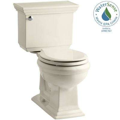 Memoirs Stately 2-piece 1.28 GPF Single Flush Round Toilet with AquaPiston Flushing Technology in Almond