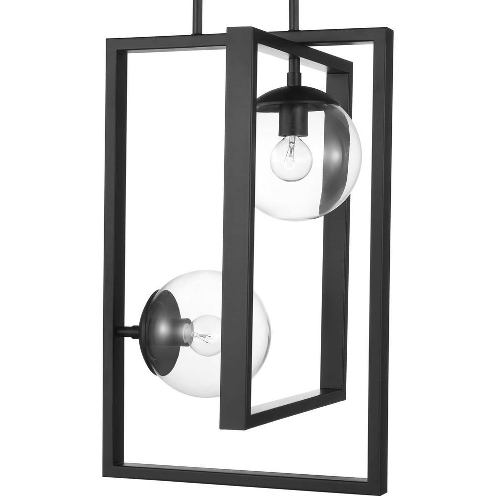 Atwell 2-Light Black Pendant