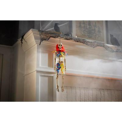 18.5 in Hanging Skeleton Clown