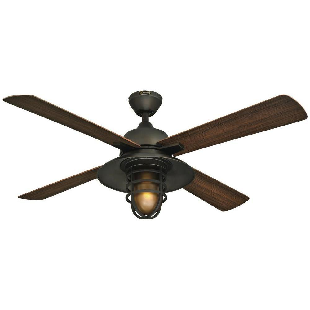 Captivating Indoor/Outdoor Oil Rubbed Bronze Ceiling Fan