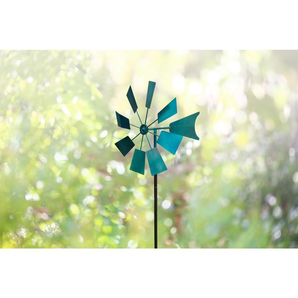 52 in. Blue Metal Windmill Stake