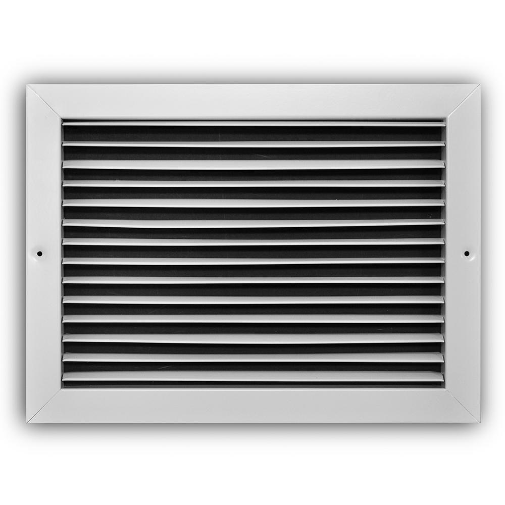 14 in. x 10 in. Fixed Bar Return Air Grille, White