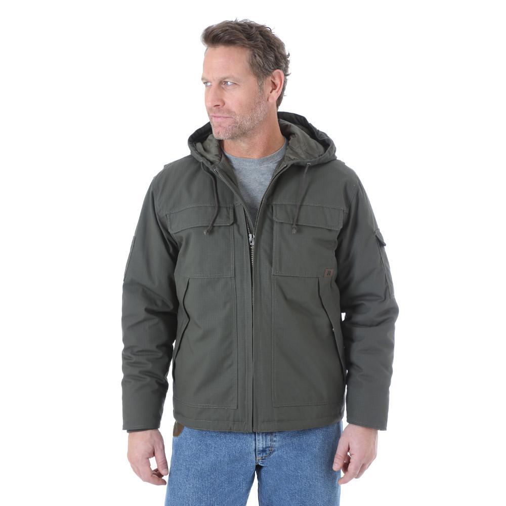 Men's Size Extra-Large Loden Hooded Ranger Jacket