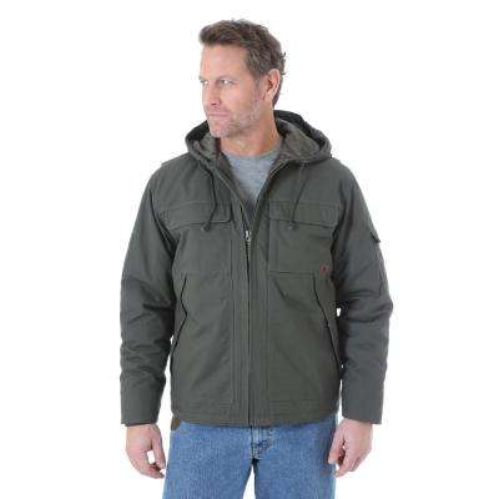 Men's Size Large Tall Loden Hooded Ranger Jacket