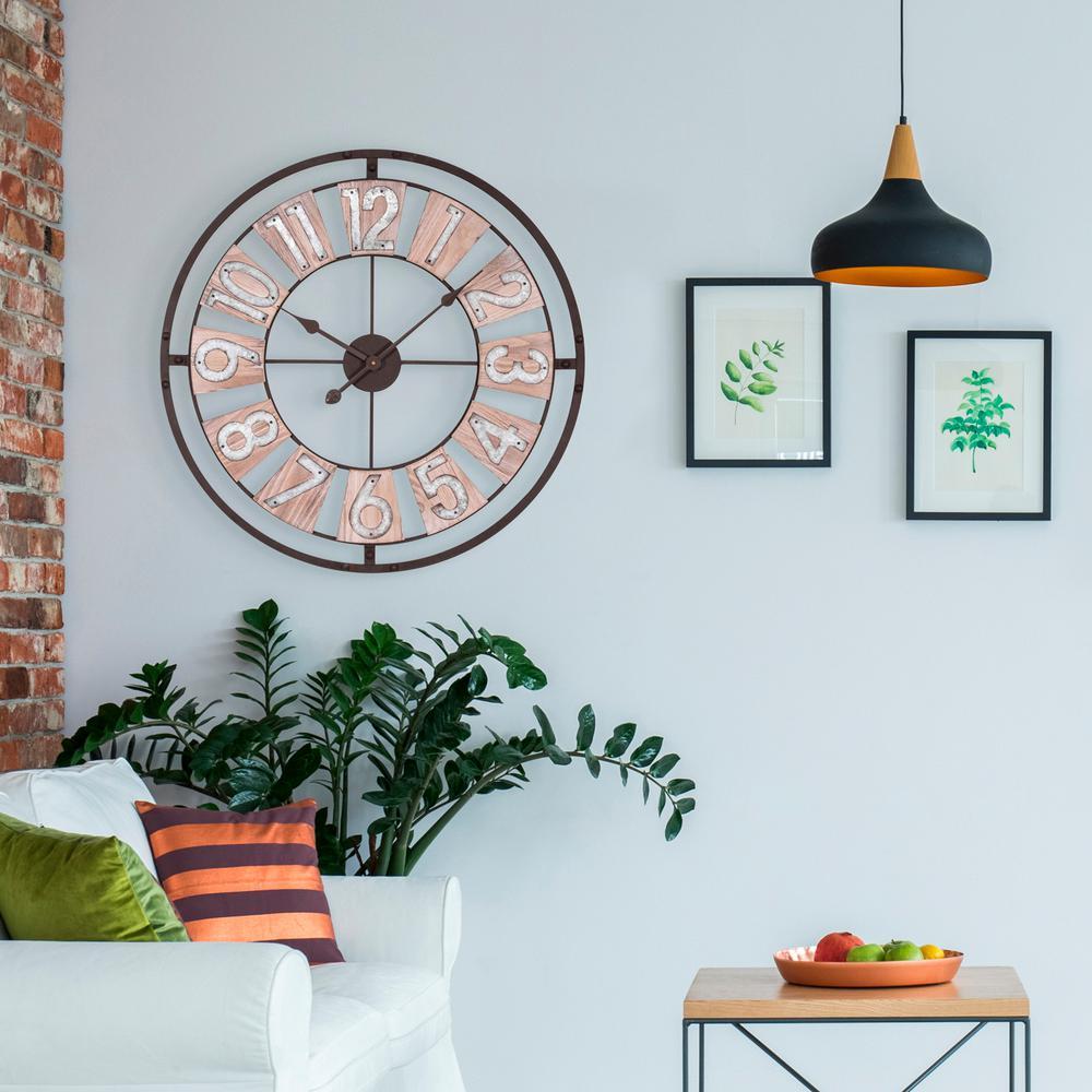 La Crosse Technology 27.5 in. Industrial Decorative Round Quartz Wall Clock