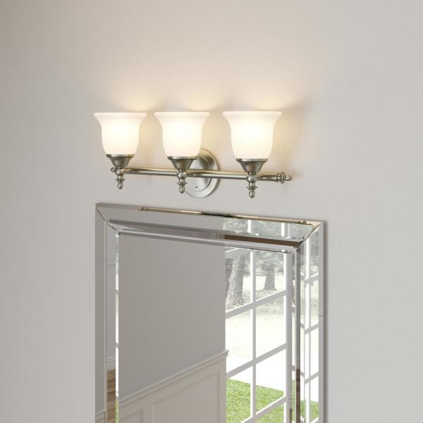 frosting glass windows reviews online shopping frosting.htm hampton bay olgelthorpe 3 light brushed nickel bathroom vanity  light brushed nickel bathroom vanity
