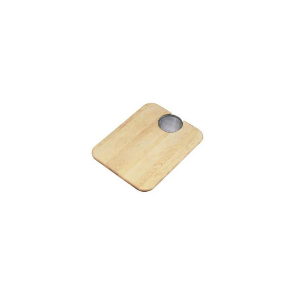 Maple Cutting Board with Removable Mesh Strainer