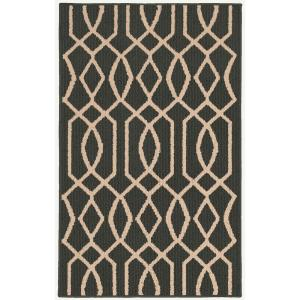 Garland Rug Fretwork Cinder/Tan 2 ft. 6 inch x 3 ft. 10 inch Accent Rug by Garland Rug