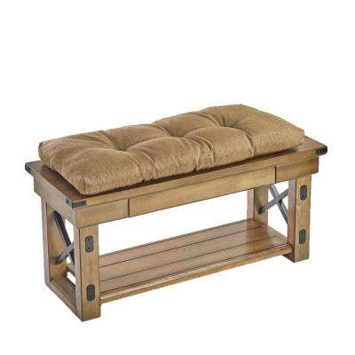 The Gripper Tufted 36 in. Omega Gold Universal Bench Cushion