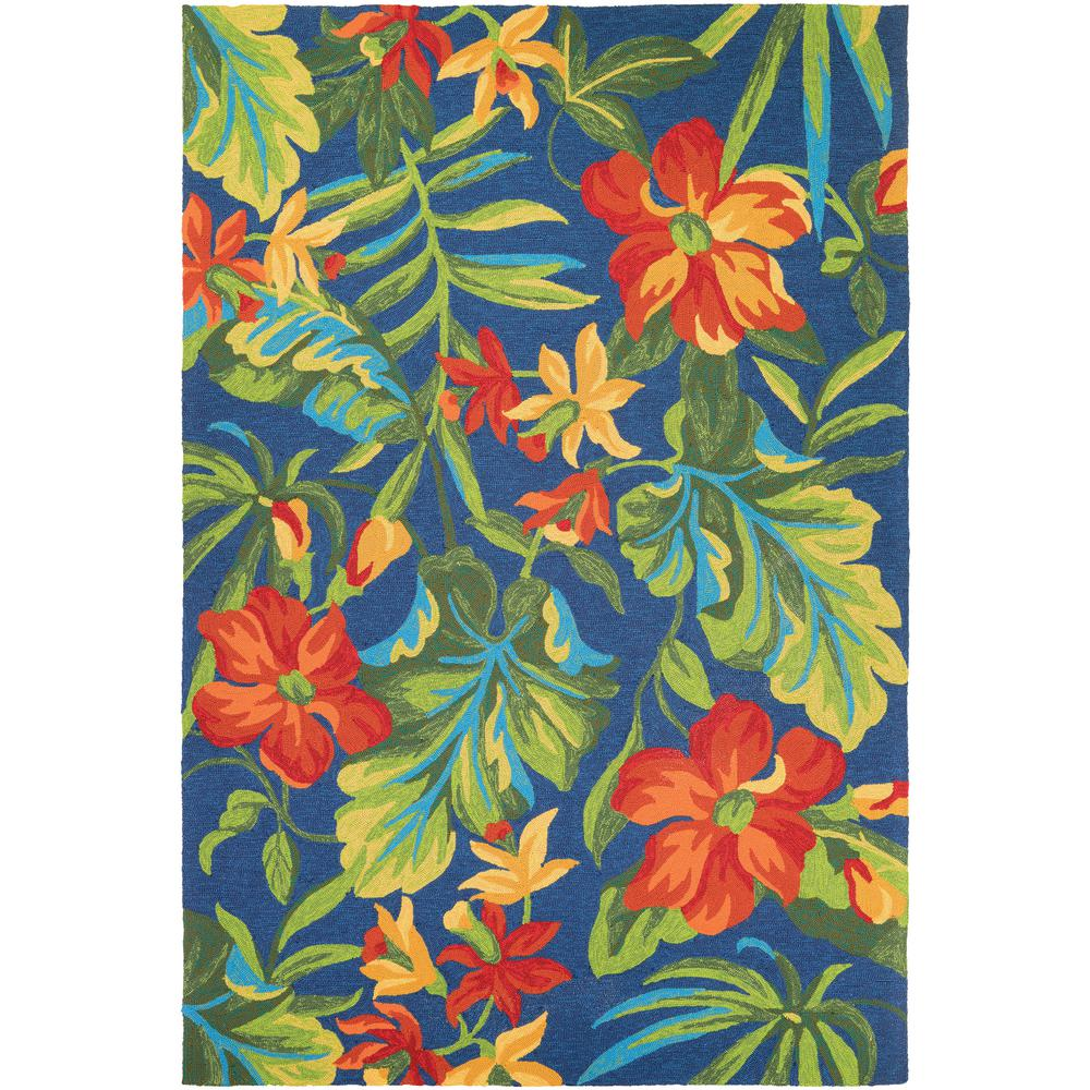 Turquoise Bath Rugs For Dry The Feet Simple Turquoise: Couristan Covington Tropical Orchid Azure-Forest Green-Red