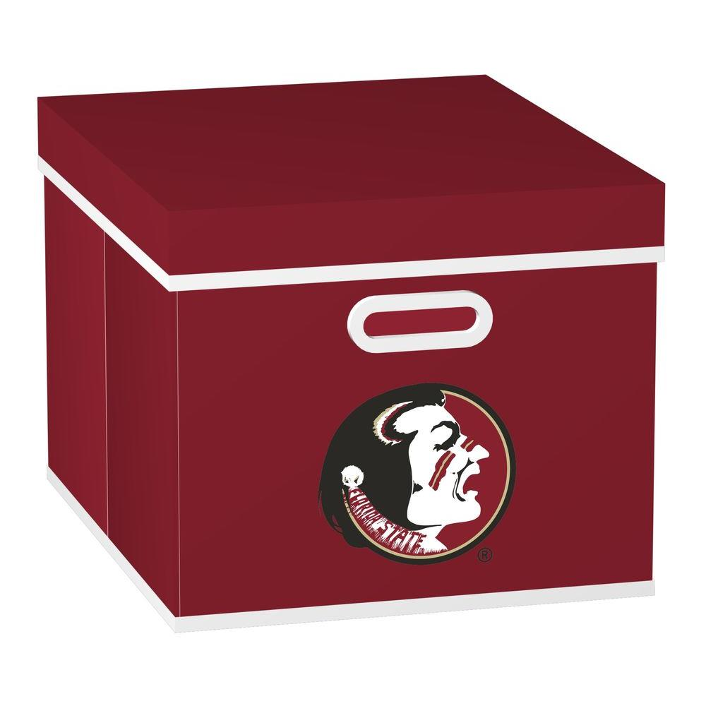 MyOwnersBox College STACKITS Florida State University 12 in. x 10 in. x 15 in. Stackable Garnet Fabric Storage Cube