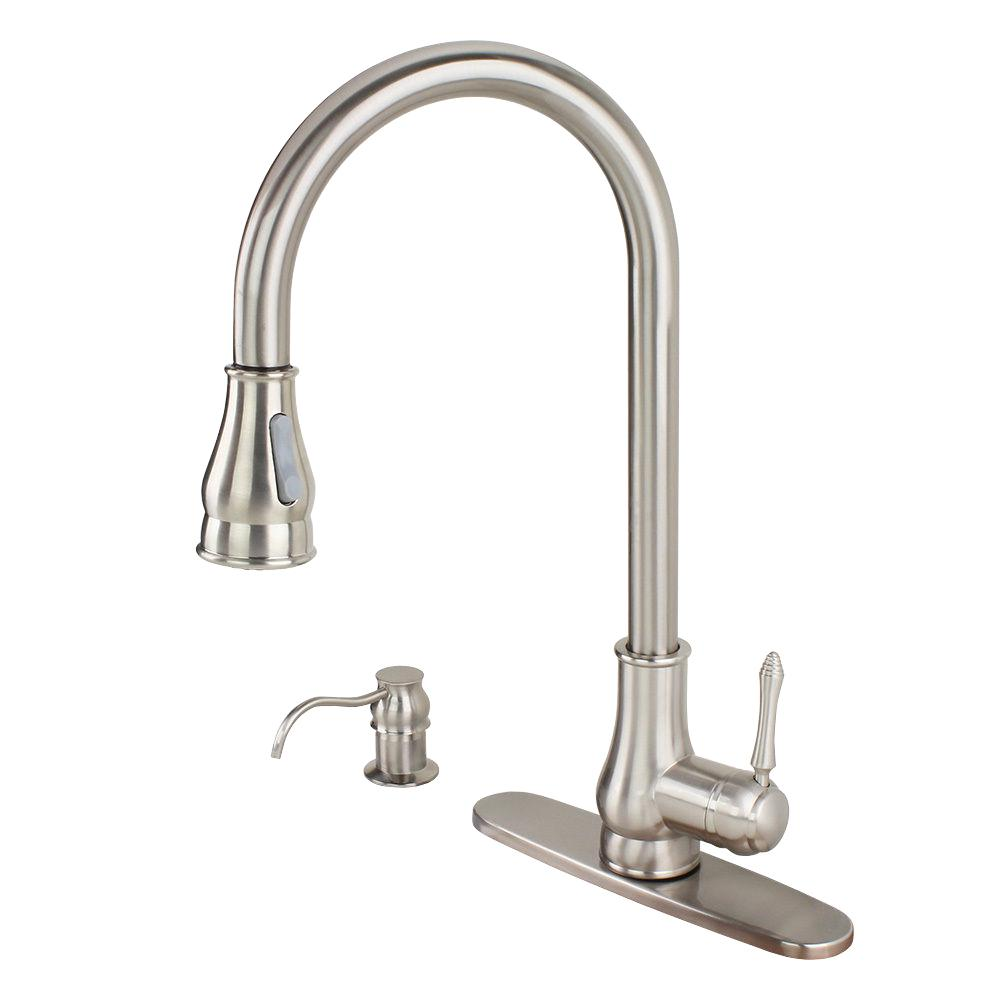 Kokols Single Handle Pull Down Sprayer Kitchen Faucet