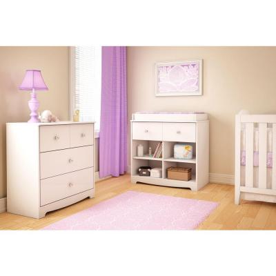 Little Jewel 3-Drawer Pure White Chest