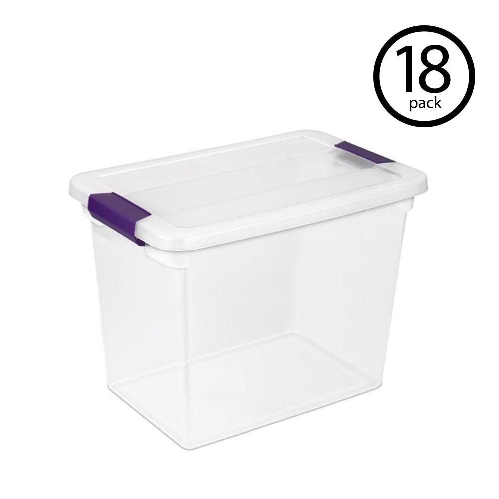 Set of 3 Square 13.5x13.5cm Plastic Office Storage Basket