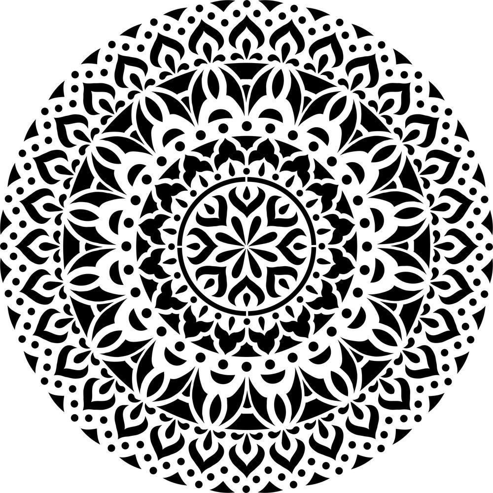 Shanti Mandala Stencil