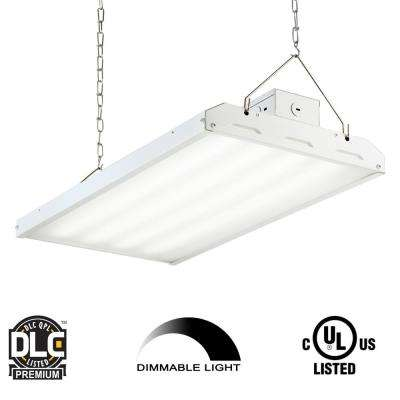 90-Watt 2 ft. White Integrated LED Backlit High Bay Hanging Light with 11400 Lumens 5000K