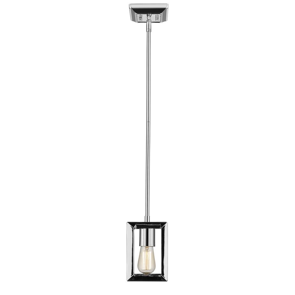 Soho Bar Pendant With 3 Opal White Glass Lights Supended: Home Decorators Collection 1-Light Chrome Pendant With