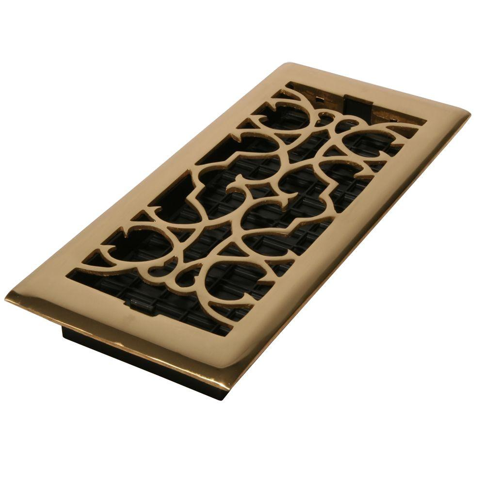 Decor Grates 2 1 4 In X 14 In Solid Brass Victorian