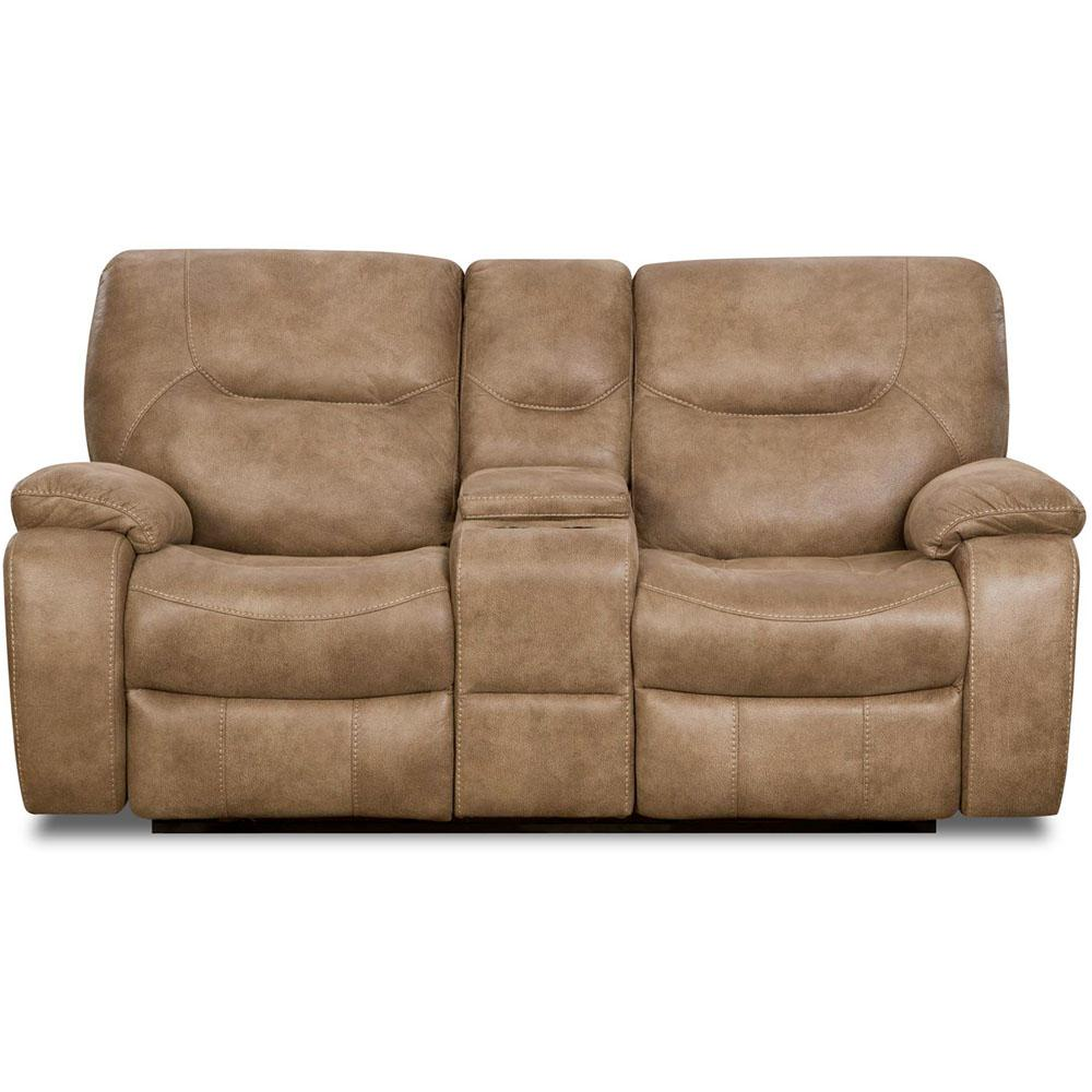 reclining coleman loveseat from silo standard tan htm furniture ridgecrest