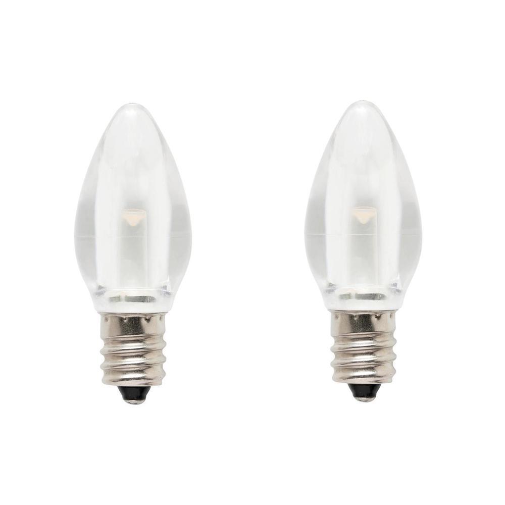 7W Equivalent Clear C7 LED Light Bulb (2-Pack)