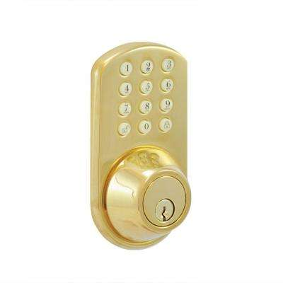 Single Cylinder Brass Touch Pad Electronic Deadbolt