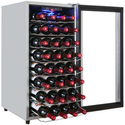 32-Bottle Single Zone Thermoelectric Silver Wine Cooler