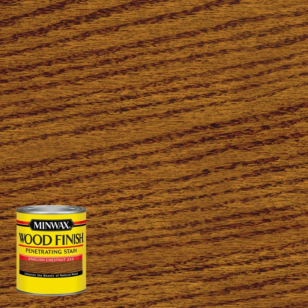 8 oz. Wood Finish English Chestnut Oil Based Interior Stain