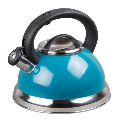Alexa 3.0 Quart Aqua with Aluminum Capsulated Bottom for Even Heat Distribution Stainless Steel Whistling Tea Kettle