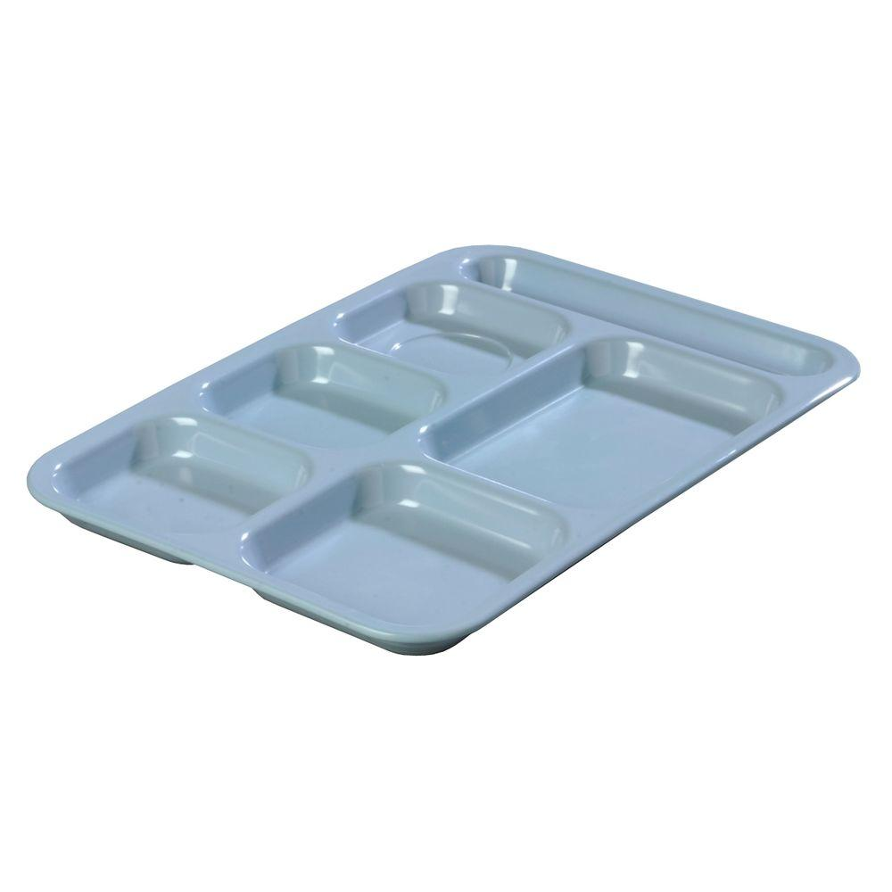 Carlisle 14.5 in. x 10 in. Melamine Right Hand 6-Compartment Tray in ...
