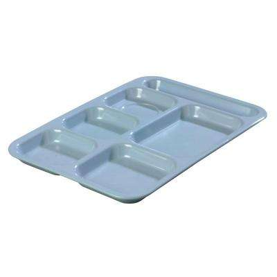 14.5 in. x 10 in. Melamine Right Hand 6-Compartment Tray in Slate Blue (Case of 12)