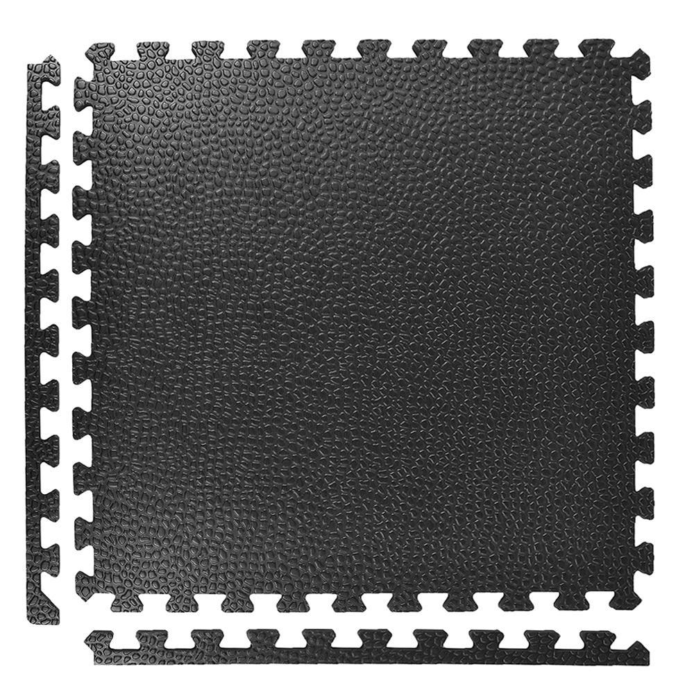 Greatmats Pebble Top Black 24 In X 3 4